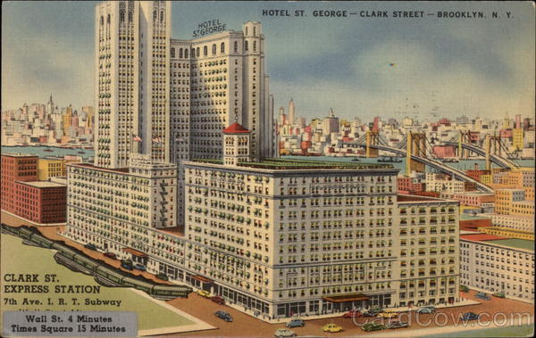 Hotel St. George - Clark Street - Brooklyn New York