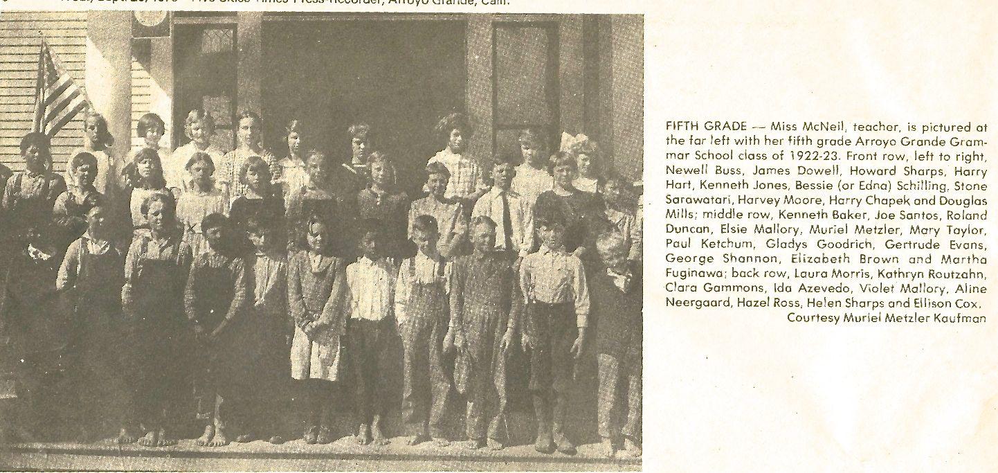 5th grade 1922-23